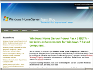 Windows Home Server Team Blog : Windows Home Server Power Pack 3 BETA ? Includes enhancements for Windows 7-based computers