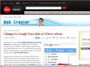 Changes to Google Docs hint at GDrive release | Web Crawler - CNET News