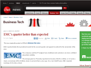 EMC's quarter better than expected | Business Tech - CNET News