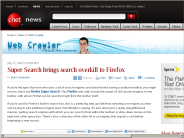 Super Search brings search overkill to Firefox | Web Crawler - CNET News