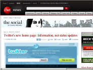 Twitter's new home page: Information, not status updates | The Social - CNET News