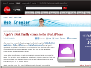 Apple's iDisk finally comes to the iPod, iPhone | Web Crawler - CNET News