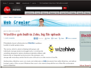 WizeHive gets built-in Zoho, big file uploads | Web Crawler - CNET News