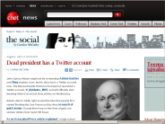 Dead president has a Twitter account | The Social - CNET News