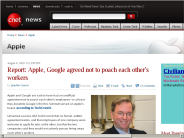 Report: Apple, Google agreed not to poach each other's workers | Apple - CNET News
