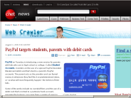 PayPal targets students, parents with debit cards | Web Crawler - CNET News