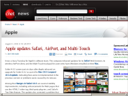 Apple updates Safari, AirPort, and Multi-Touch | Apple - CNET News
