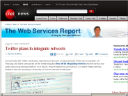 Twitter plans to integrate retweets | The Web Services Report - CNET News