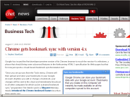 Chrome gets bookmark sync with version 4.x | Business Tech - CNET News