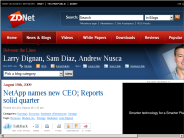 NetApp names new CEO; Reports solid quarter | Between the Lines | ZDNet.com