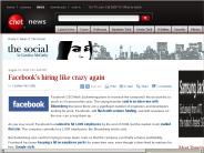 Facebook's hiring like crazy again | The Social - CNET News