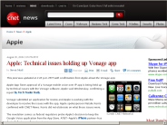 Apple: Technical issues holding up Vonage app | Apple - CNET News