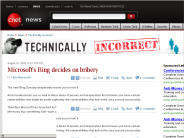 Microsoft's Bing decides on bribery | Technically Incorrect - CNET News