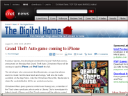 Grand Theft Auto game coming to iPhone | The Digital Home - CNET News
