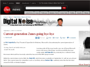 Current-generation Zunes going bye-bye | Digital Noise: Music and Tech - CNET News