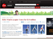 Helix Wind to acquire Venco for $3.9 million | Green Tech - CNET News