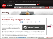 WordPress blogs falling prey to worm | Security - CNET News
