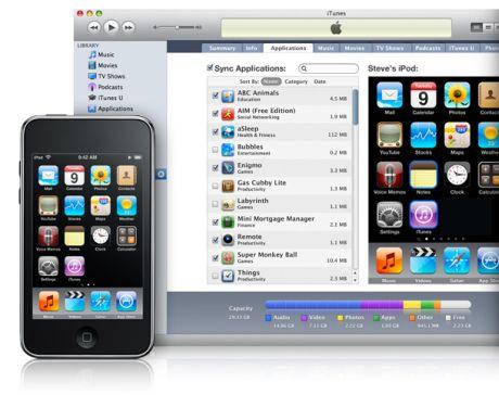 iPhoneとiPod touchのユーザーは、デバイス本体ではなく、iTunesでホーム画面上のアプリケーションを再配置できる。