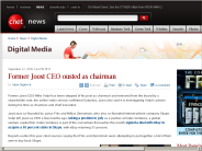 Former Joost CEO ousted as chairman | Digital Media - CNET News