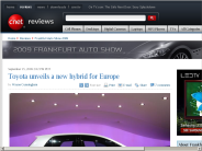 Toyota unveils a new hybrid for Europe | Frankfurt Auto Show 2009 - CNET Reviews