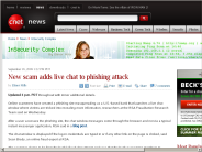 New scam adds live chat to phishing attack | InSecurity Complex - CNET News