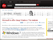 Microsoft to offer cheap Windows 7 for students | Beyond Binary - CNET News