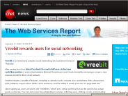 Vreebit rewards users for social networking | The Web Services Report - CNET News
