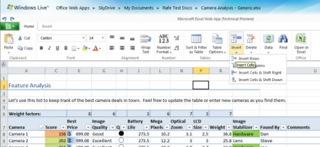 「Office Web Apps」のテクニカルプレビュー版