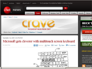 Microsoft gets cleverer with multitouch screen keyboard | Crave - CNET