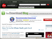 Documents To Go posts - The Download Blog - Download.com