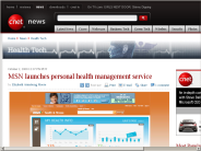 MSN launches personal health management service | Health Tech - CNET News