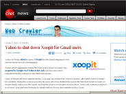 Yahoo to shut down Xoopit for Gmail users | Web Crawler - CNET News