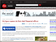 MySpace names its first chief financial officer | The Social - CNET News