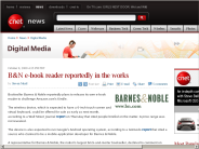 B&N e-book reader reportedly in the works | Digital Media - CNET News