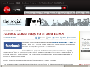 Facebook database outage cut off about 150,000 | The Social - CNET News