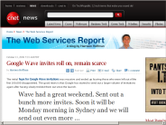 Google Wave invites roll on, remain scarce | The Web Services Report - CNET News