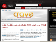 Nokia Booklet makes it official: $299 with 2-year AT&T contract | Crave - CNET