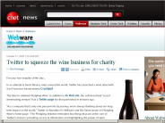 Twitter to squeeze the wine business for charity | Webware - CNET
