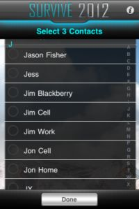 「iPhone」向けアプリ「Survive 2012」