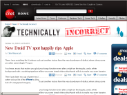 New Droid TV spot happily rips Apple | Technically Incorrect - CNET News