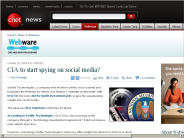 CIA to start spying on social media? | Webware - CNET