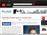 Eight billion minutes spent on Facebook daily | The Social - CNET News