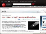 More evidence of Apple's nonexistent tablet surfaces | Apple - CNET News