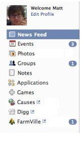 ページの下部に置かれていた長いバーに代わって、新しいユーザーナビゲーションメニューが登場する。