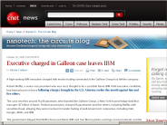 Executive charged in Galleon case leaves IBM | Nanotech - The Circuits Blog - CNET News