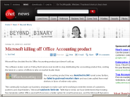 Microsoft killing off Office Accounting product | Beyond Binary - CNET News