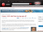 Former AMD chief Ruiz leaving spin-off | Nanotech - The Circuits Blog - CNET News