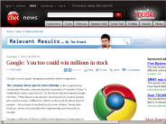 Google: You too could win millions in stock | Relevant Results - CNET News