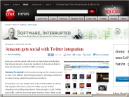 Amazon gets social with Twitter integration | Software, Interrupted - CNET News