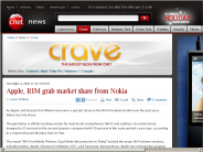 Apple, RIM grab market share from Nokia | Crave - CNET